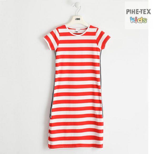 iDO lány, piros-fehér ruha (J546/00-2235)