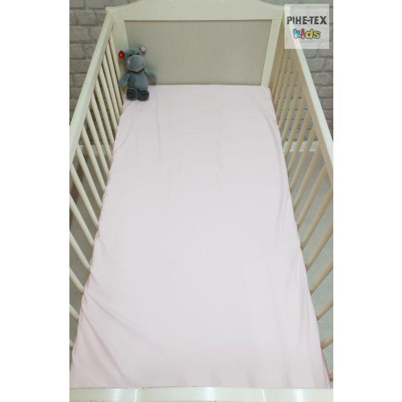 Rózsaszín gumis lepedő