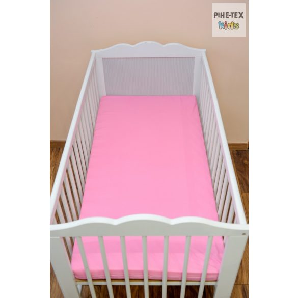 Rózsaszín gumis lepedő 60x120-70x140 cm