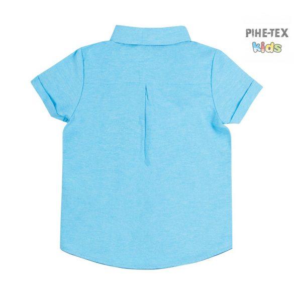 Bembi kék, nyári kisfiú ing (RB116)