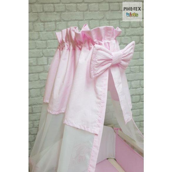 Rózsaszín, hímzett zsiráf család 4 részes babaágynemű szett (99)
