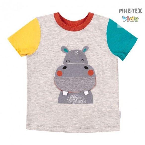 Bembi szürke, fiú póló, viziló mintával  (FB692)