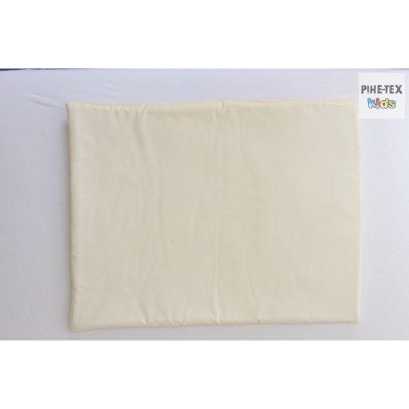 Vaníliaszín, hímzett vizilovas 4 részes babaágynemű szett (98)