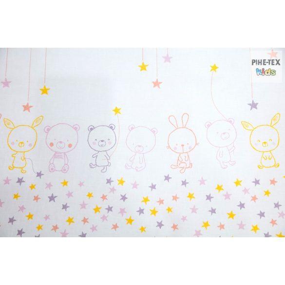 Pihe- Rózsaszín csillagos maci gyermek-, ovis párna (P-495/R)