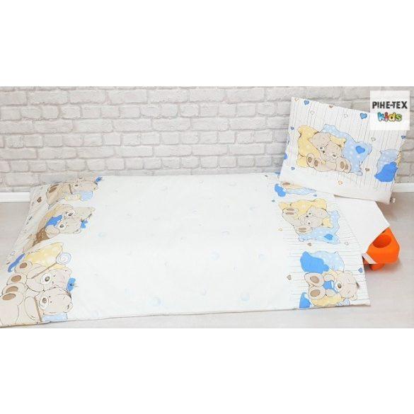 Medvebocsok kék, ovis ágynemű szett 90x140cm (573/K) (ovis huzat, 2 részes fehér)