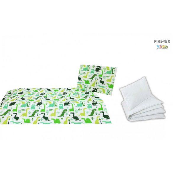 Dinópark zöld, ovis ágynemű szett 90x140cm (468/Z) (ovis huzat, 2 részes fehér)
