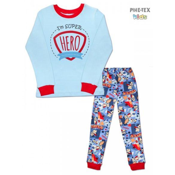 Bembi 2 részes fiú pizsama szett, világoskék, Hero (PG39)