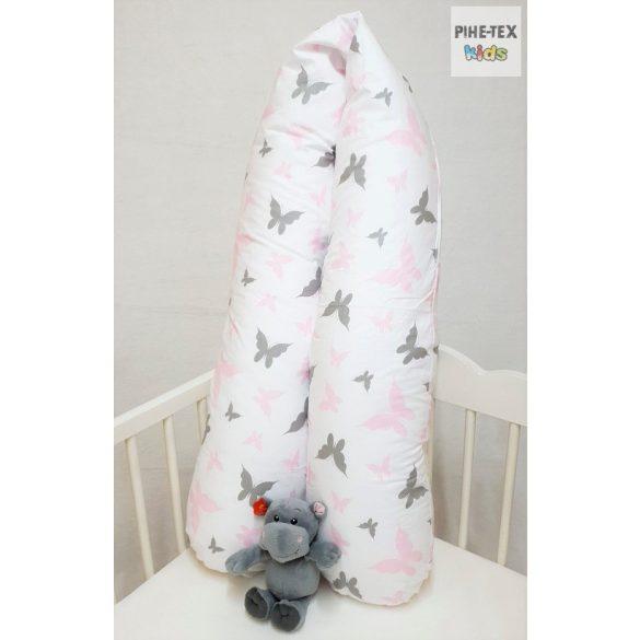 Lepkék,szürke-rózsaszín,- kismama párna (559/R)