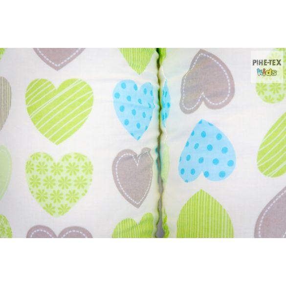 Zöld szív,pihe-puha szopipárna (503/Z)