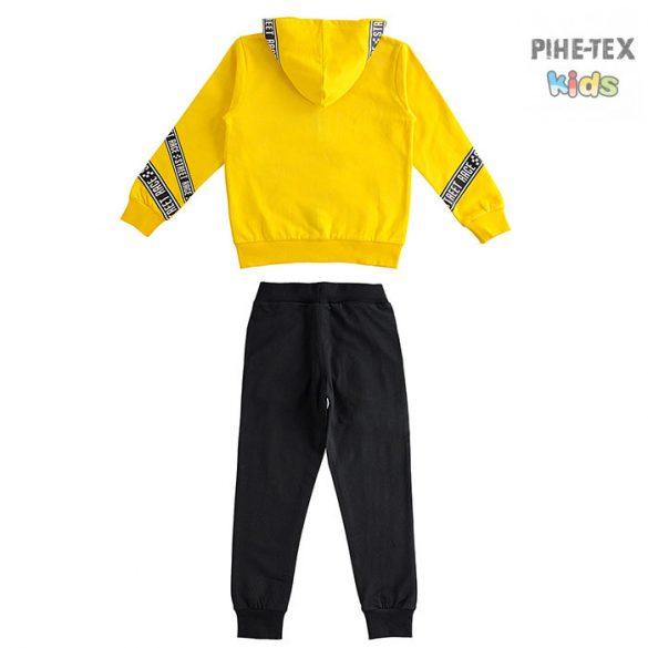 iDO 2 részes sárga-fekete, fiú szett, nadrággal (J476/00-8180)