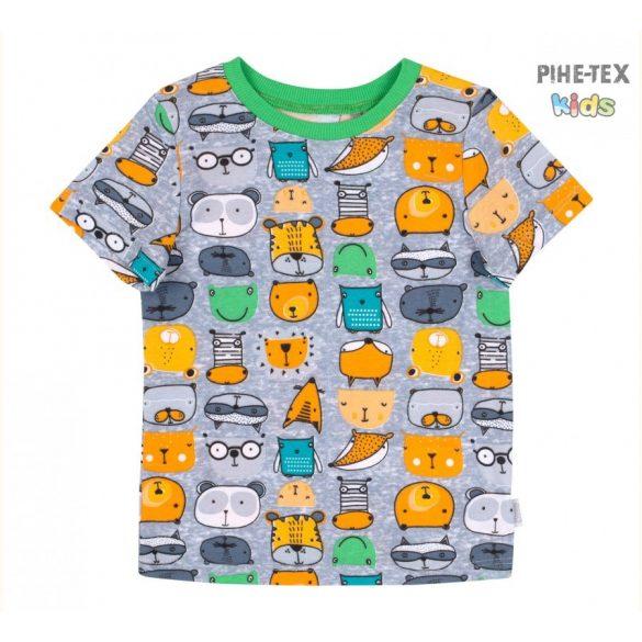 Bembi szürke, fiú póló, állatos mintával  (FB692)