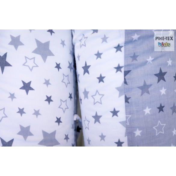 Nagy csillagok,szürke, szoptatós kismama párna (118/F-Sz)