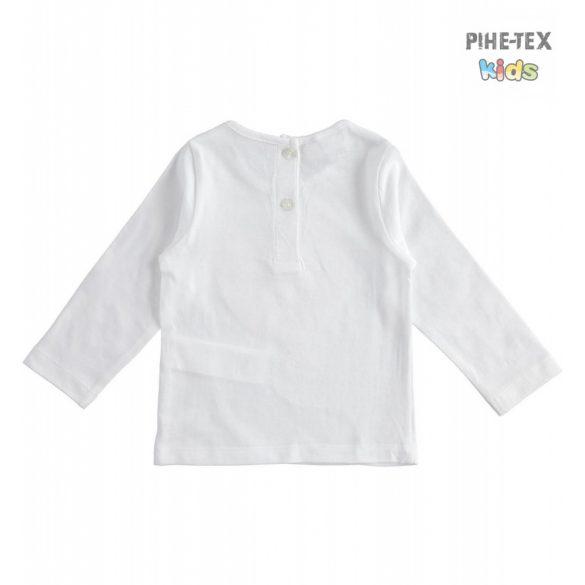 iDO lány, fehér, hosszú ujjú felső, megfordítható flitteres mintával (J360/00-0113)