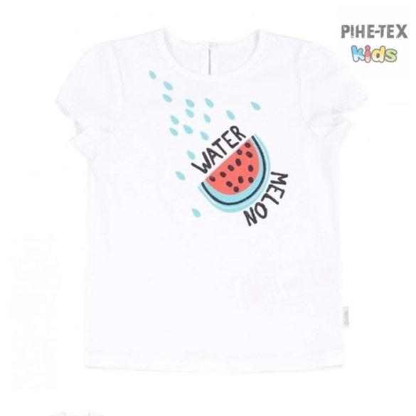 Bembi fehér, nyári kislány póló, nyomott dinnye mintával (FB701)