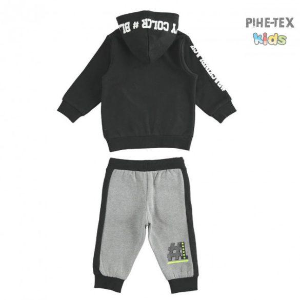 iDO 2 részes fiú szett, szürke-fekete-neon, melegítő nadrággal (K552/00-8317)