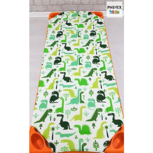 Dinópark, zöld, 5 részes ovis kezdőcsomag (2 részes fehér, ovis huzat, ovis zsák, tornazsák, óvodai derékalj) + ajándék ovis törölköző