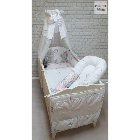 Fáncsi 6 részes babaágynemű szett (587) (4 részes, zsebes tároló, babafészek)