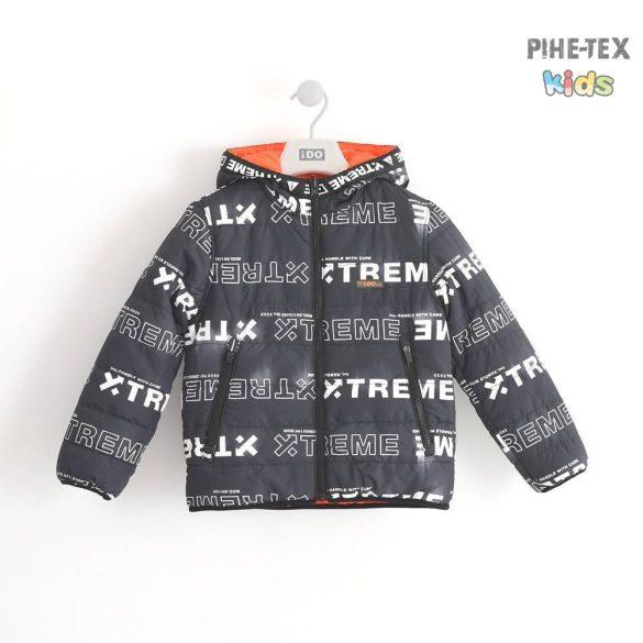iDO fiú, narancs-sötétkék, kívül-belül hordható kabát (K801/00-2213)