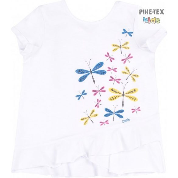 Bembi fehér, nyári kislány póló, nyomott mintával (FB702)