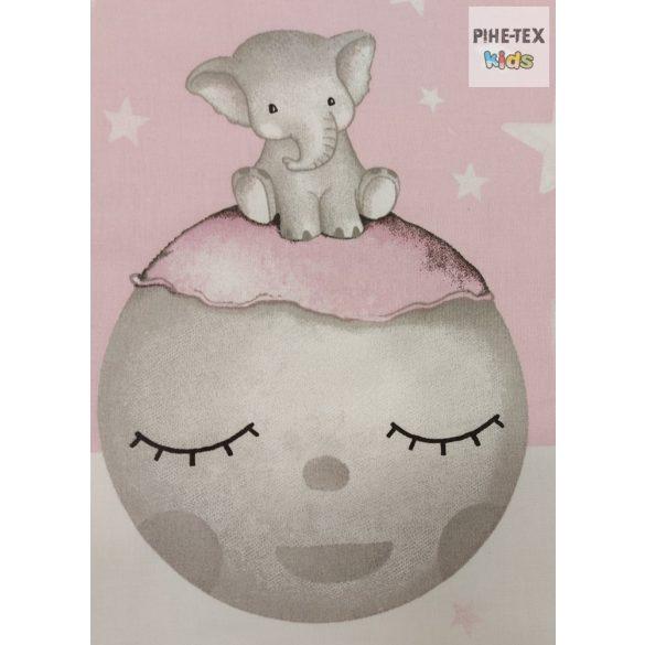 Bébi elefánt,rózsaszín- 3 részes babaágynemű szett (582/R)