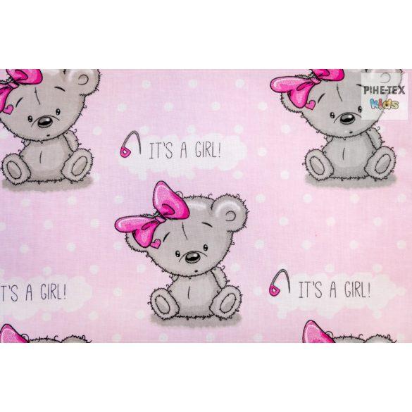 Maci Girl 4 részes babaágynemű szett (481/R)