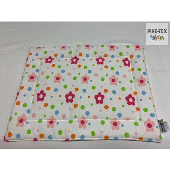 Virágos pamut takaró szett+nyálkendő