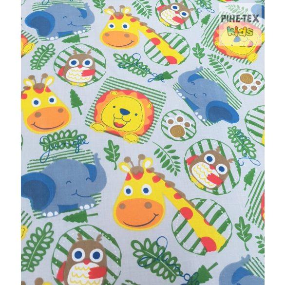 Állatok a dzsungelben szürke, gyermek-, ovis ágynemű (601/Sz)
