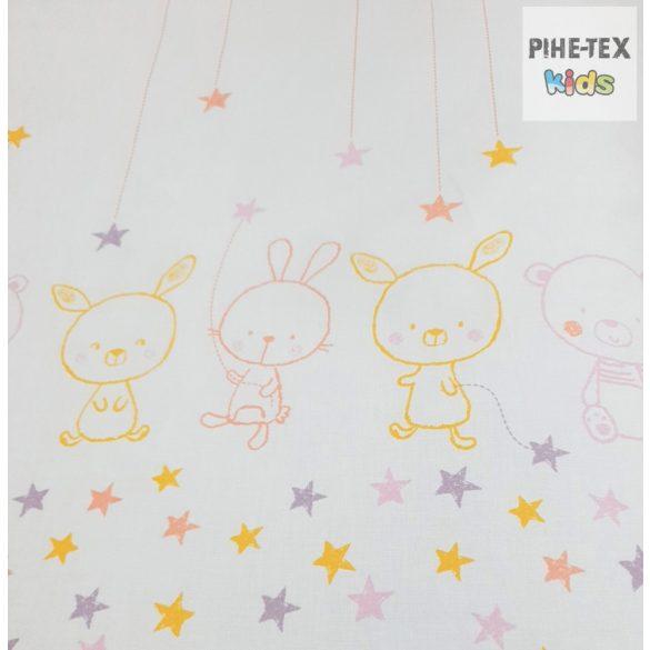 Pihe- Rózsaszín csillagos maci gyermek-, ovis ágynemű huzat (P-495/R)