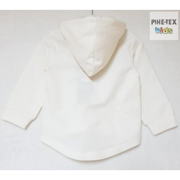 iDO lány, krém, kapucnis pulóver, strasszköves mintával (K616/00-0112)