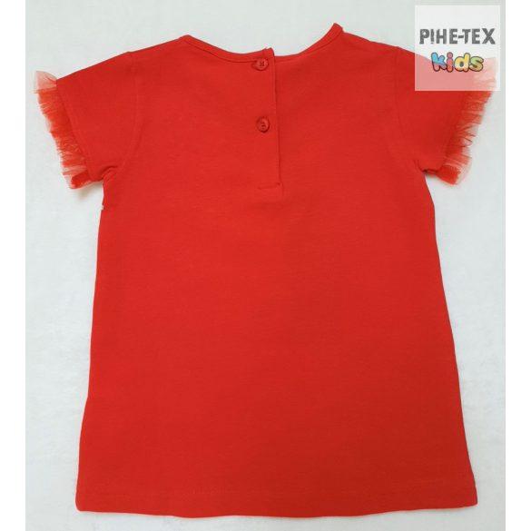 iDO lány, piros rövid ujjú póló, nyomott mintával (J758/00-2256)