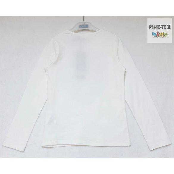iDO lány, fehér, hosszú ujjú felső, megfordítható flitteres mintával (K930/00-0112)
