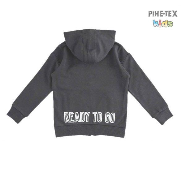 iDO fiú, fekete, kapucnis pulóver, nyomott felirattal (K721/00-0658)