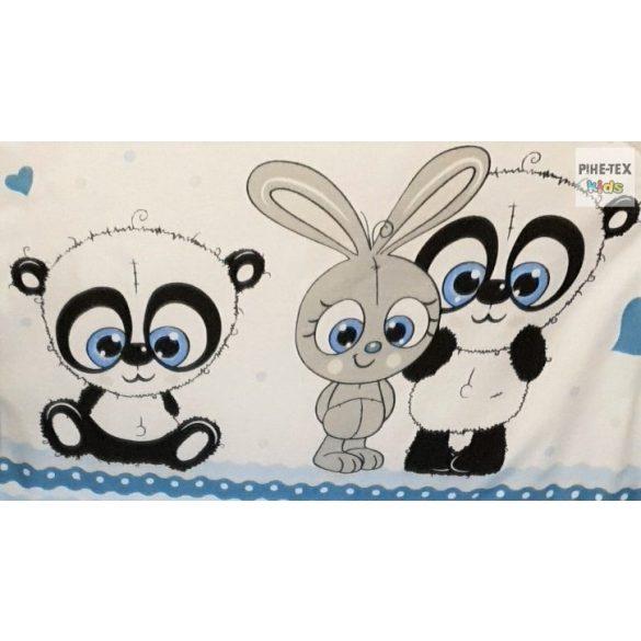 Cuki Állatok, kék- 3 részes babaágynemű szett (576/K)
