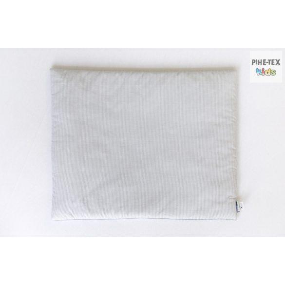 Szürke csíkos hímzett függős macik mintás, 4 részes babaágynemű szett (113/Sz)