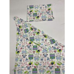 Pamut takaró-párna-nyálkendő