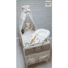 6 RÉSZES mintás babaágynemű szett babafészekkel